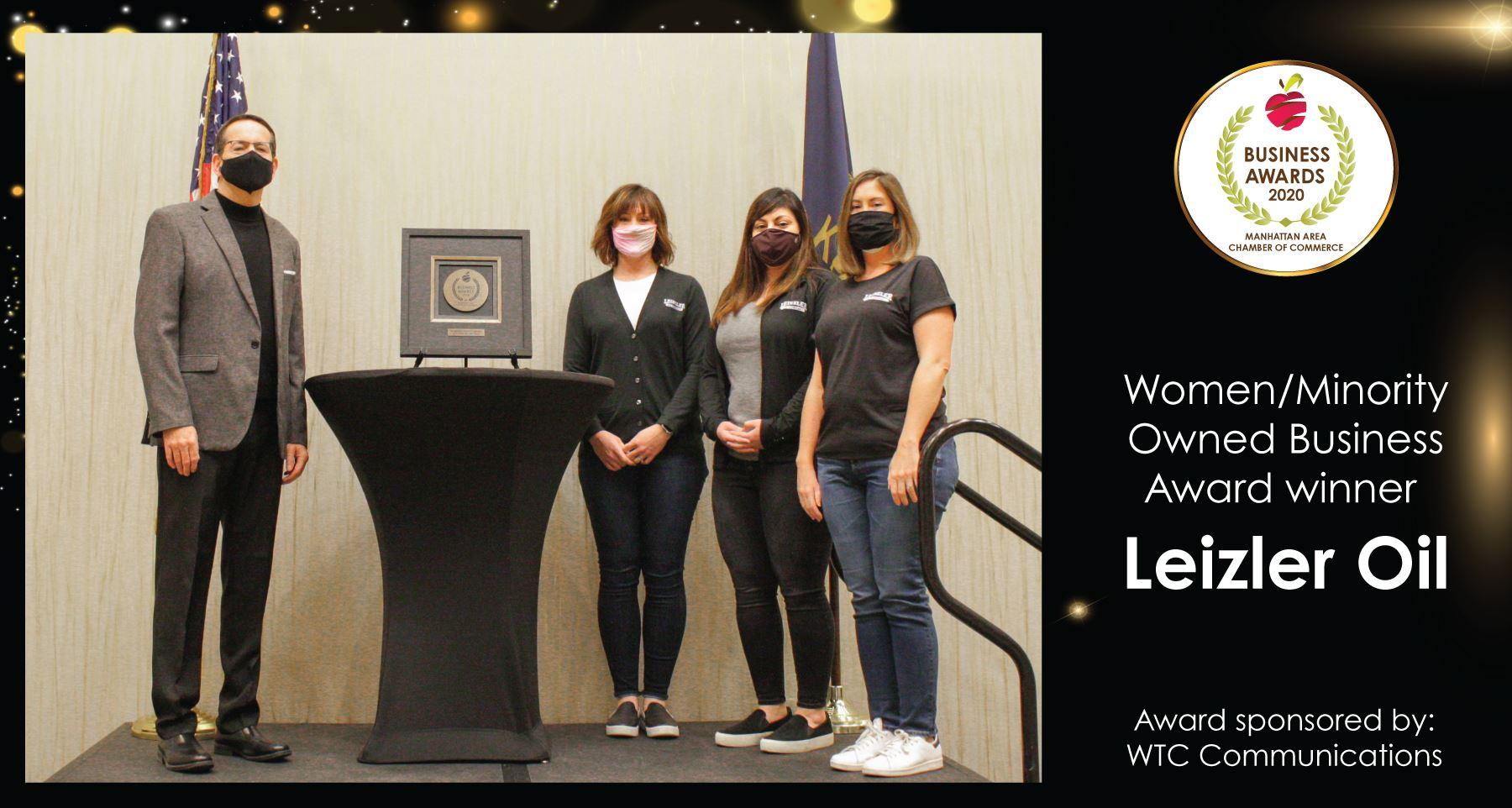 Leizler Oil Receives the Women/Minority Owned Business Award